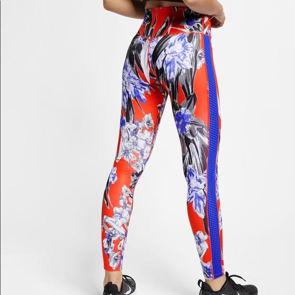 Nike Hyper Femme Floral Orange Tights